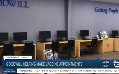 Abc Channel 10 News Goodwill Helping seniors with vaccine appointments